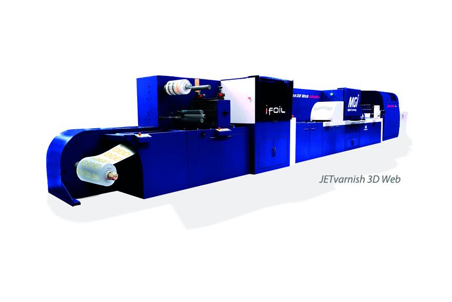 MGI Digital Technology ha desarrollado una barnizadora inkjet 2D/3D y hot foil 100% digital para etiquetas